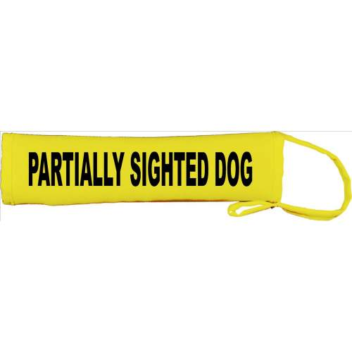Partially Sighted Dog - Fluorescent Neon Yellow Dog Lead Slip