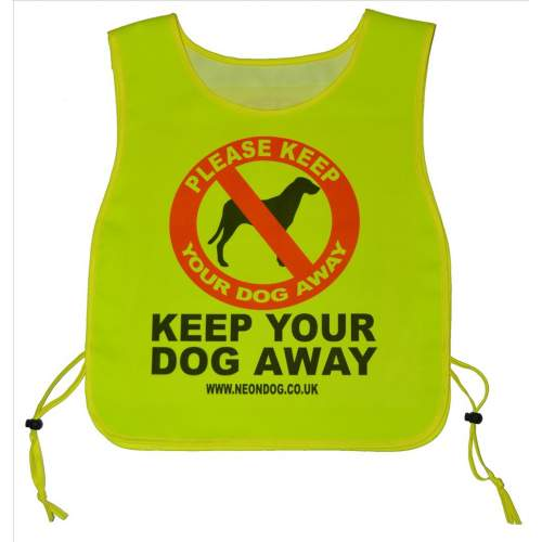 Keep Your Dog Away - Fluorescent Neon Yellow Tabard