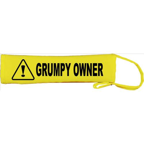 Grumpy Owner - Fluorescent Neon Yellow Dog Lead Slip