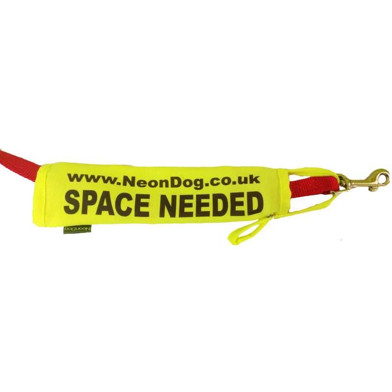 The Original NeonDog® Space needed lead slip - Fluorescent Neon Yellow Dog Lead Slip