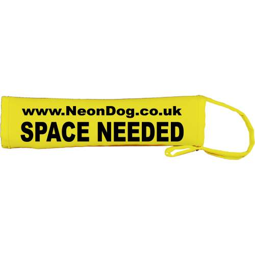 The Original NeonDog® Space needed lead slip - Fluorescent Neon Yellow Dog Lead Slip