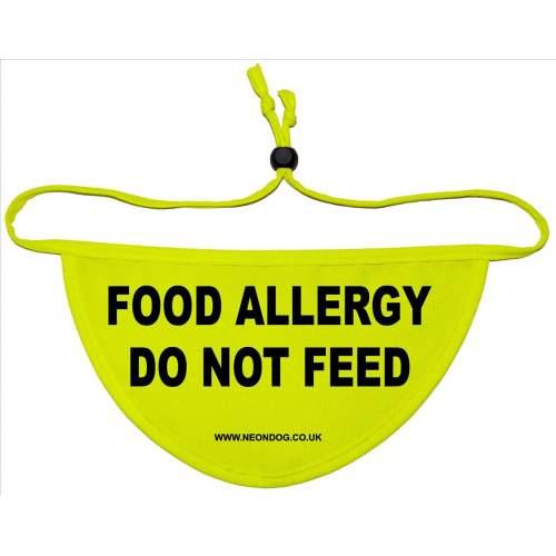 Food Allergy - Do Not Feed - Fluorescent Neon Yellow Dog Bandana