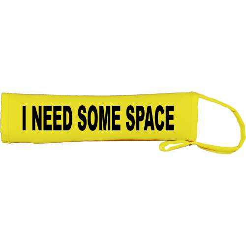 I Need Some Space - Fluorescent Neon Yellow Dog Lead Slip