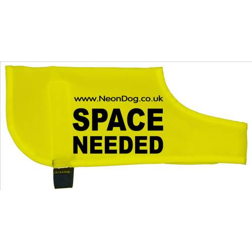 The Original NeonDog® SPACE NEEDED COAT - Fluorescent Neon Yellow Dog Coat Jacket