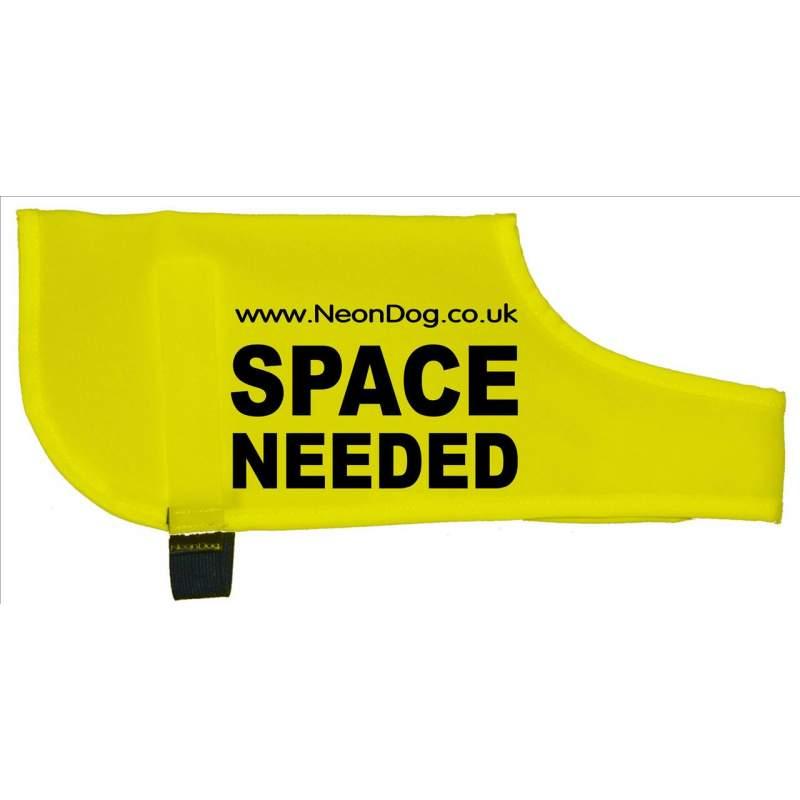 The Original NeonDog® SPACE NEEDED COAT - Fluorescent Neon Yellow Dog Coat Jacket