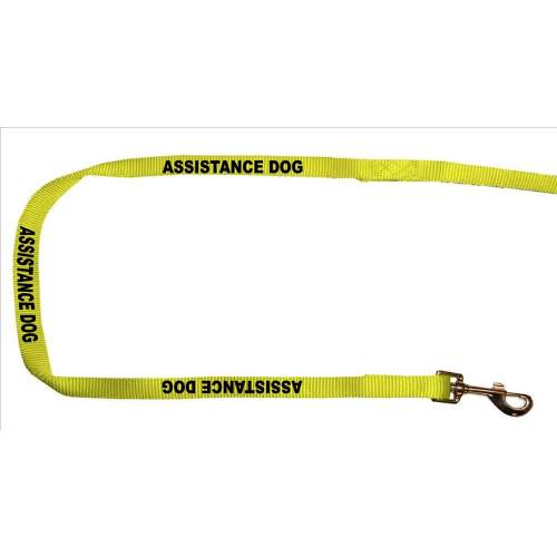 Assistance Dog - Fluorescent NeonDog Yellow Dog Lead