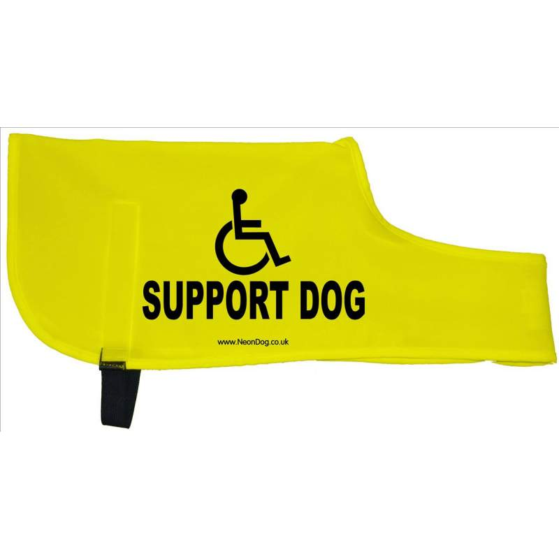 Support Dog - Fluorescent Neon Yellow Dog Coat Jacket