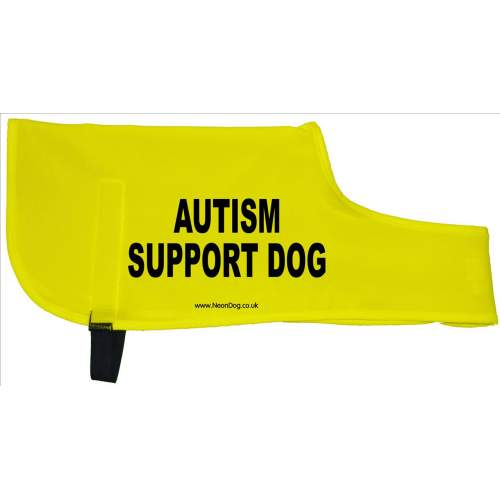 Autism Support Dog - Fluorescent Neon Yellow Dog Coat Jacket