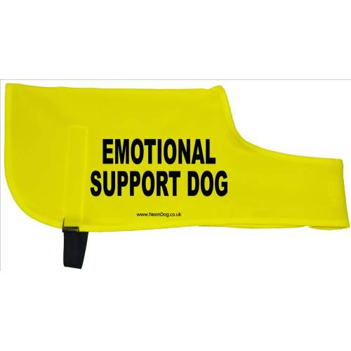 emotional support dog - Fluorescent Neon Yellow Dog Coat Jacket