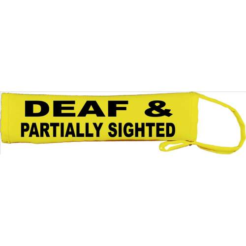 DEAF & PARTIALLY SIGHTED - Fluorescent Neon Yellow Dog Lead Slip