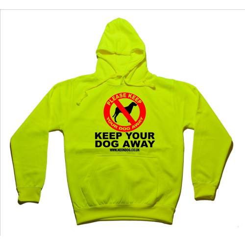Keep Your Dog Away - Fluorescent Neon Yellow Dog Hoodie