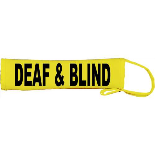 DEAF & BLIND - Fluorescent Neon Yellow Dog Lead Slip