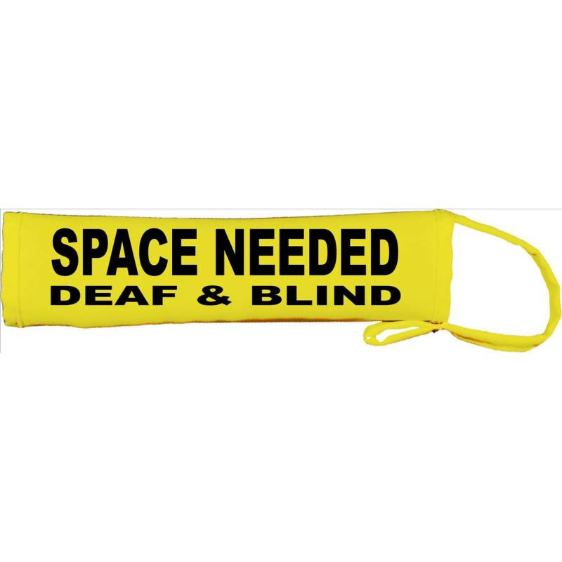 SPACE NEEDED DEAF AND BLIND - Fluorescent Neon Yellow Dog Lead Slip