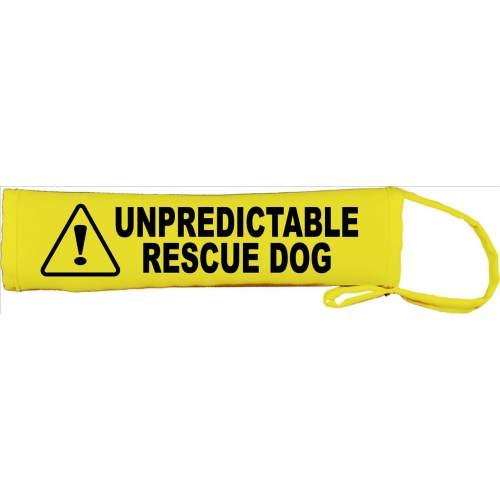 Unpredictable Rescue Dog - Fluorescent Neon Yellow Dog Lead Slip