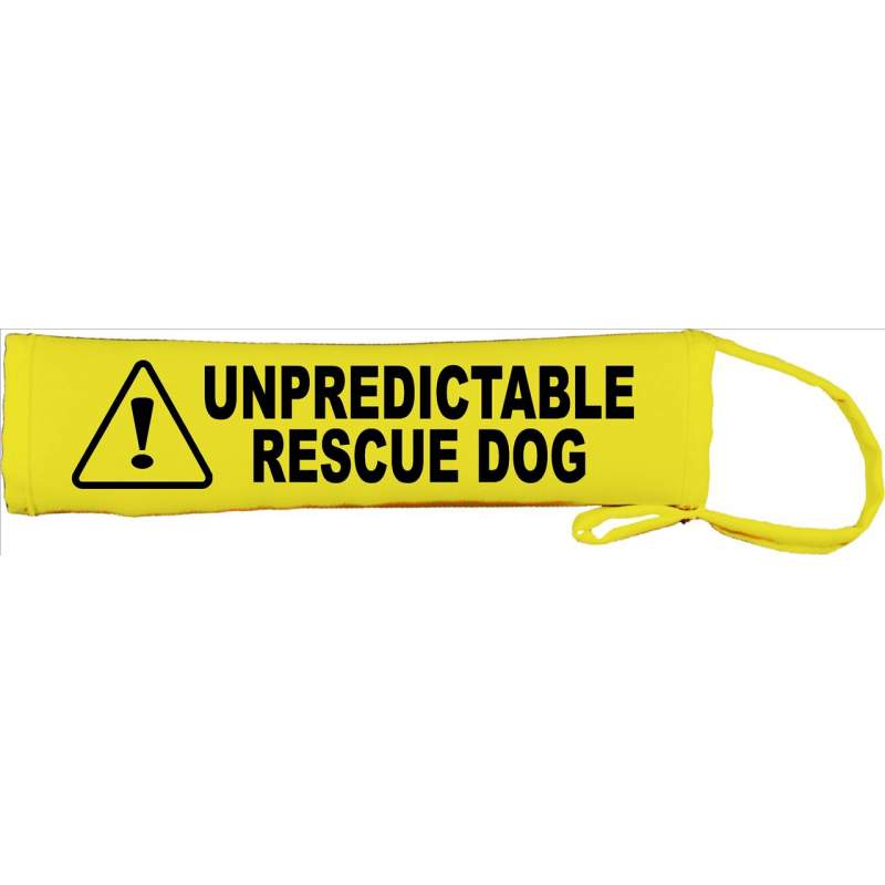 Unpredictable Rescue Dog - Fluorescent Neon Yellow Dog Lead Slip