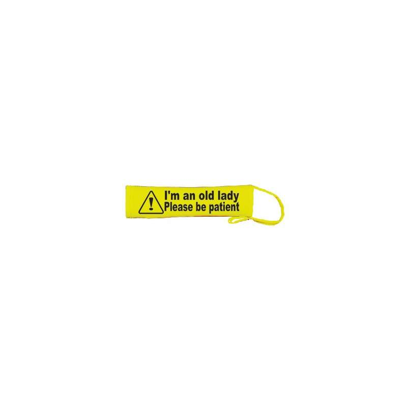 I'm an old lady please be patient - Fluorescent Neon Yellow Dog Lead Slip