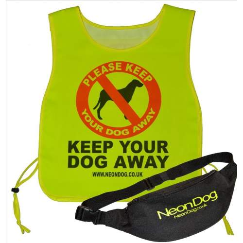 Keep Your Dog Away - Fluorescent Neon Yellow Tabbard