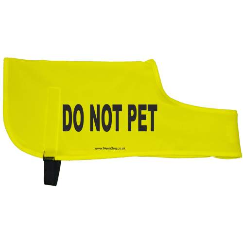 DO NOT PET - Fluorescent Neon Yellow Dog Coat Jacket