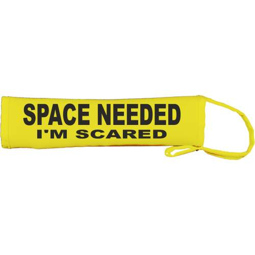SPACE NEEDED I'M SCARED - Fluorescent Neon Yellow Dog Lead Slip