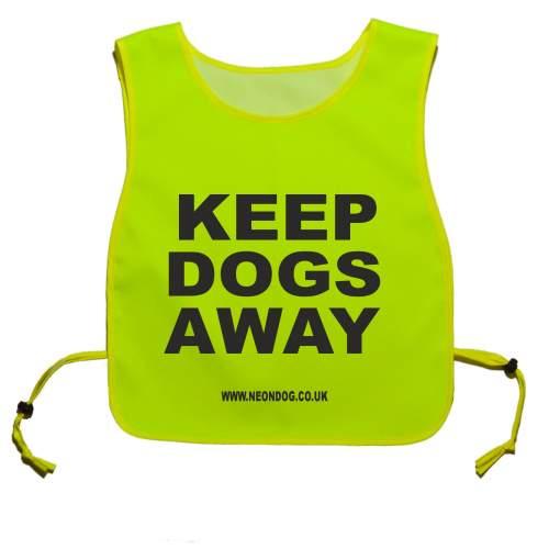 Keep Your Dog Away - Fluorescent Neon Yellow Tabbard