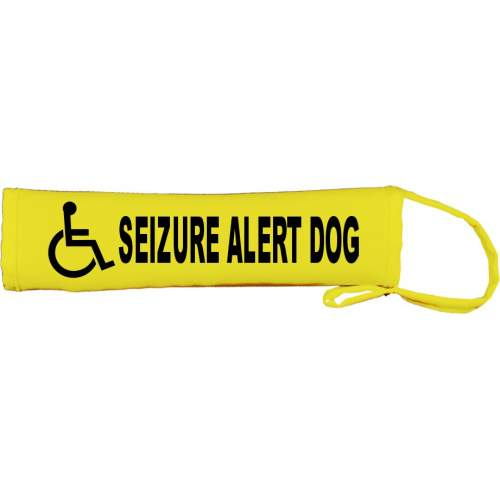 Disabled Seizure Alert Dog - Fluorescent Neon Yellow Dog Lead Slip