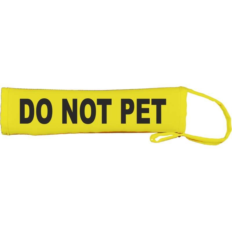 DO NOT PET - Fluorescent Neon Yellow Dog Lead Slip