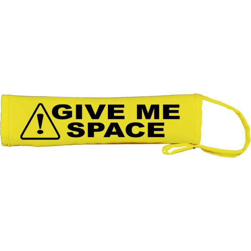 Caution Give Me Space - Fluorescent Neon Yellow Dog Lead Slip
