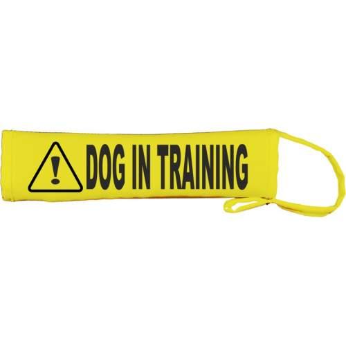 Caution Dog In Training Lead - Fluorescent Neon Yellow Dog Lead Slip