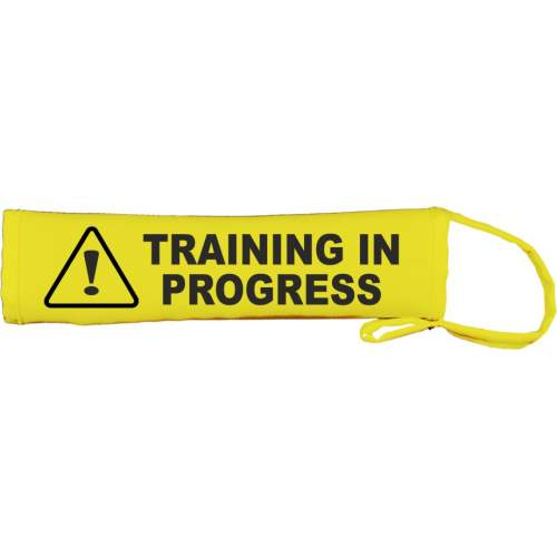 Warning: Training In Progress - Fluorescent Neon Yellow Dog Lead Slip