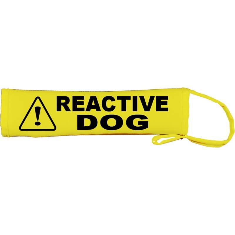Caution Reactive Dog- Fluorescent Neon Yellow Dog Lead Slip