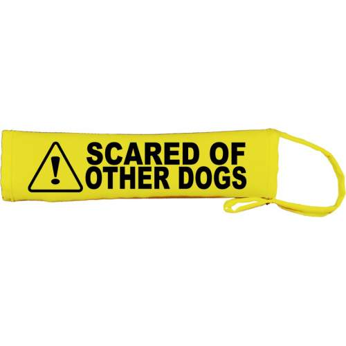 Scared of Other Dogs - Fluorescent Neon Yellow Dog Lead Slip