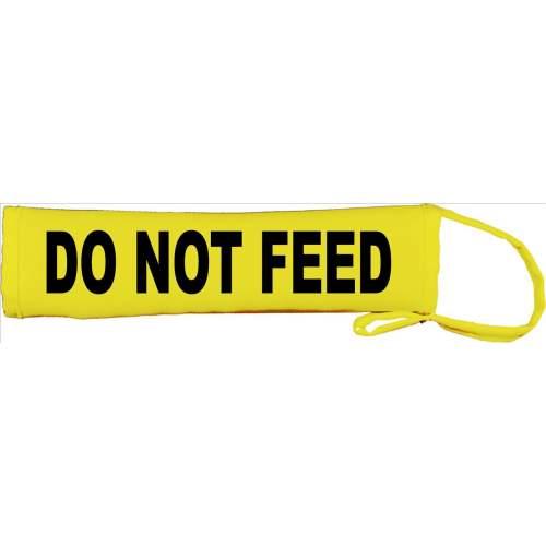 DO NOT FEED - Fluorescent Neon Yellow Dog Lead Slip