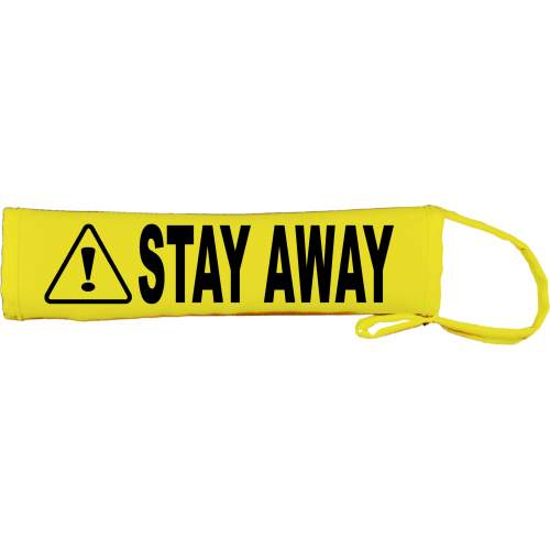 Caution Stay Away - Fluorescent Neon Yellow Dog Lead Slip