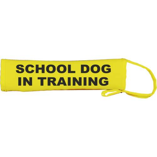 SCHOOL DOG IN TRAINING - Fluorescent Neon Yellow Dog Lead Slip