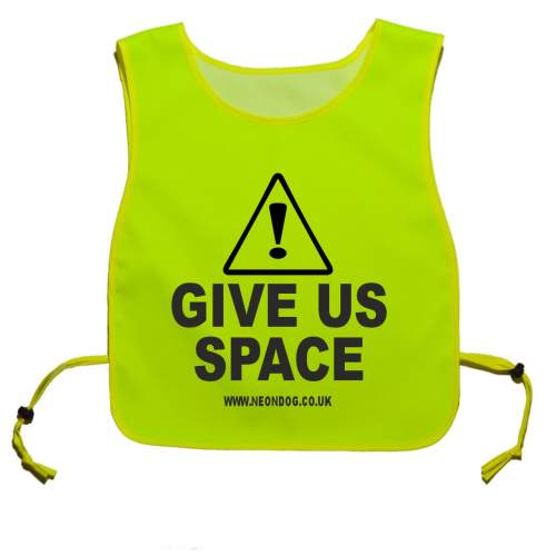 Caution Give Us Space - Fluorescent Neon Yellow Tabard
