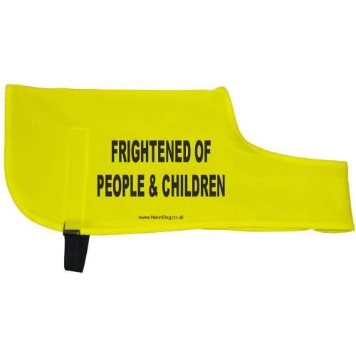 Frightened of People & Children - Fluorescent Neon Yellow Dog Coat Jacket