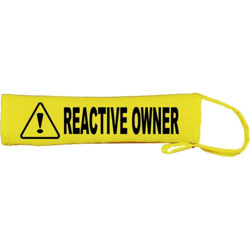 REACTIVE OWNER - Fluorescent Neon Yellow Dog Lead Slip