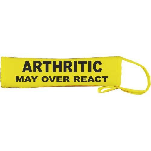 Arthritic - May over react - Fluorescent Neon Yellow Dog Lead Slip