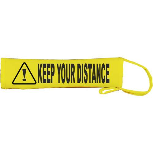 Warning: Keep Your Distance - Fluorescent Neon Yellow Dog Lead Slip