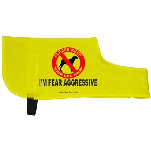 I'm Fear Aggressive - Fluorescent Neon Yellow Dog Coat Jacket
