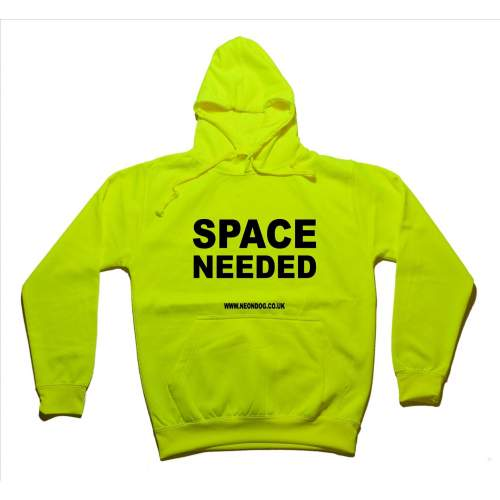 Space Needed - Fluorescent Neon Yellow Dog Hoodie