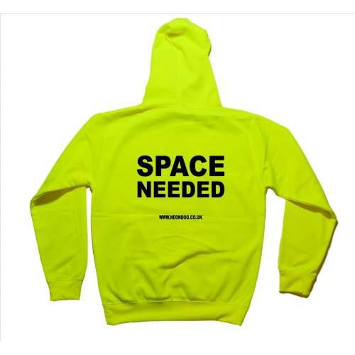 Space Needed - Fluorescent Neon Yellow Dog Hoodie