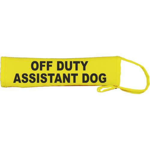 off duty assistant dog - Fluorescent Neon Yellow Dog Lead Slip