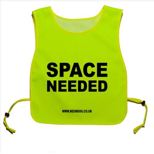 Space Needed - Fluorescent Neon Yellow Tabard