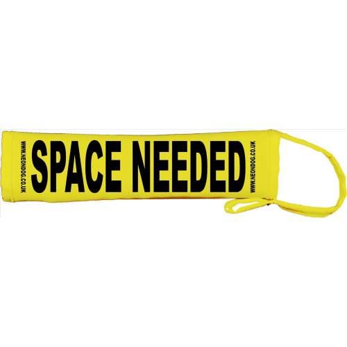 Space Needed - Fluorescent Neon Yellow Dog Lead Slip