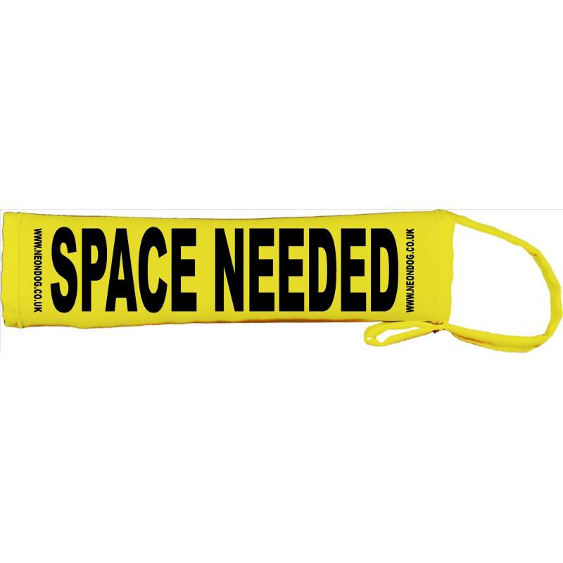 Space Needed - Fluorescent Neon Yellow Dog Lead Slip