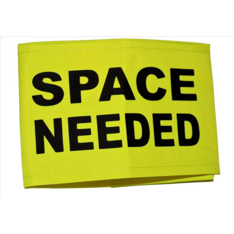 Space Needed - Fluorescent Neon Yellow Arm Band