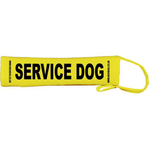 Service Dog - Fluorescent Neon Yellow Dog Lead Slip