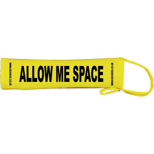 Allow ME Space - Fluorescent Neon Yellow Dog Lead Slip
