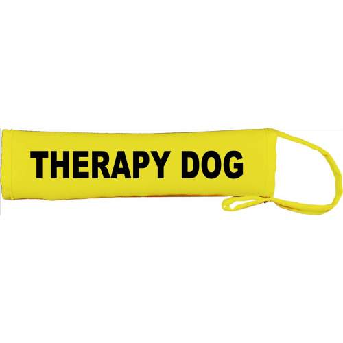 Therapy Dog - Fluorescent Neon Yellow Dog Lead Slip